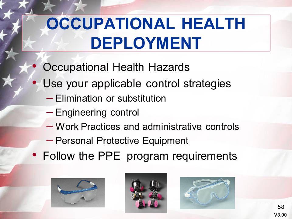 OCCUPATIONAL HEALTH DEPLOYMENT