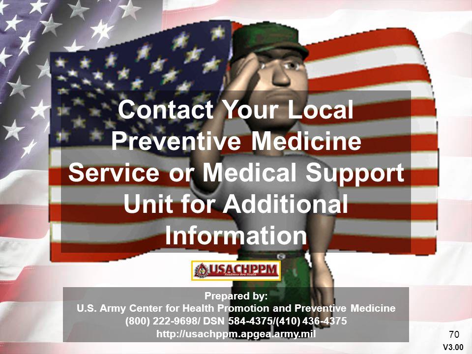 U.S. Army Center for Health Promotion and Preventive Medicine