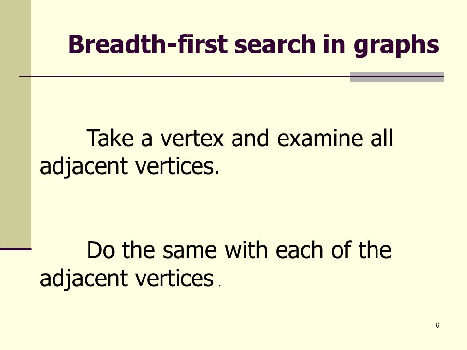 Breadth-first search in graphs