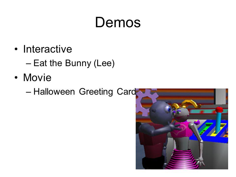 Demos Interactive Eat the Bunny (Lee) Movie Halloween Greeting Card