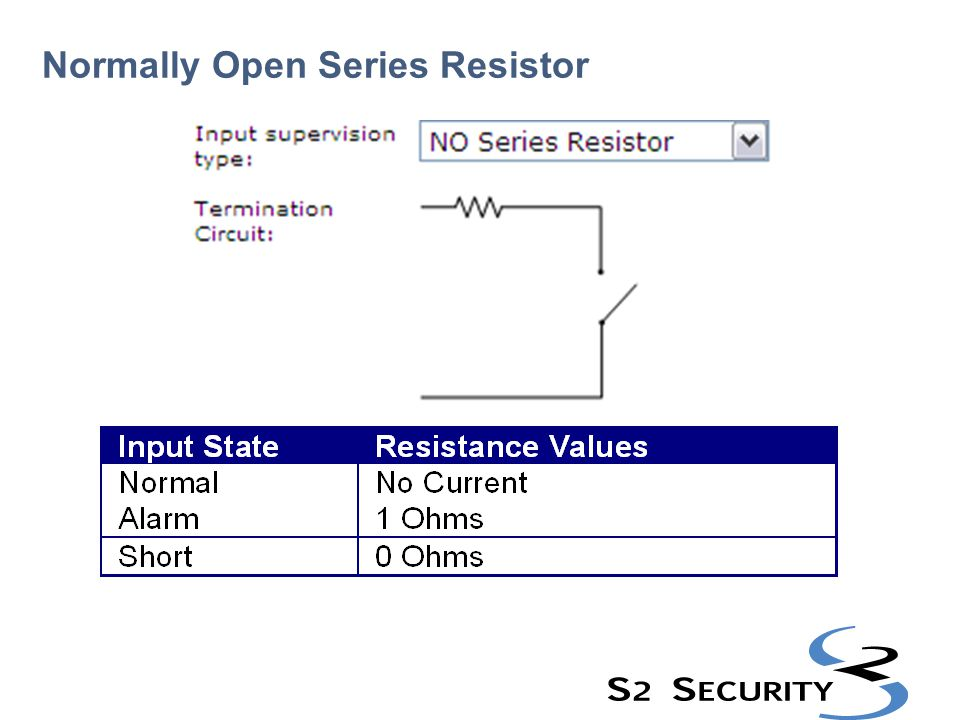 Normally Open Series Resistor