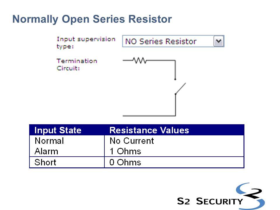 Normally Open Series Resistor