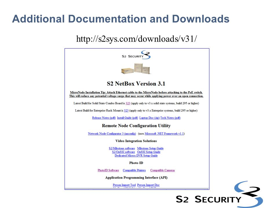 Additional Documentation and Downloads