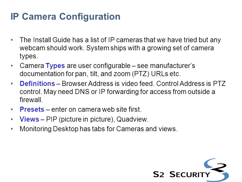IP Camera Configuration