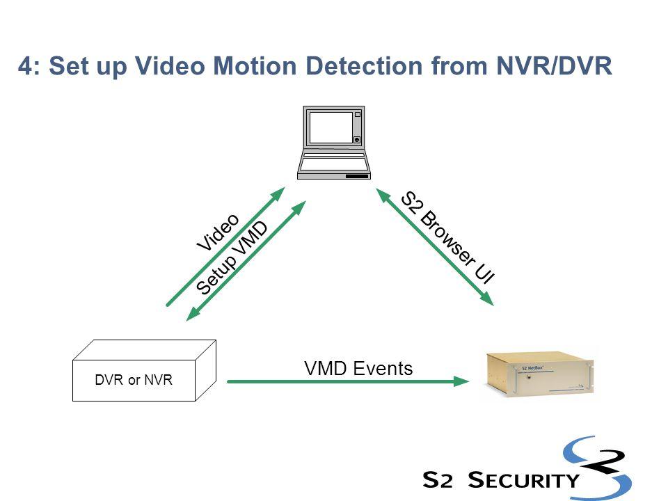4: Set up Video Motion Detection from NVR/DVR