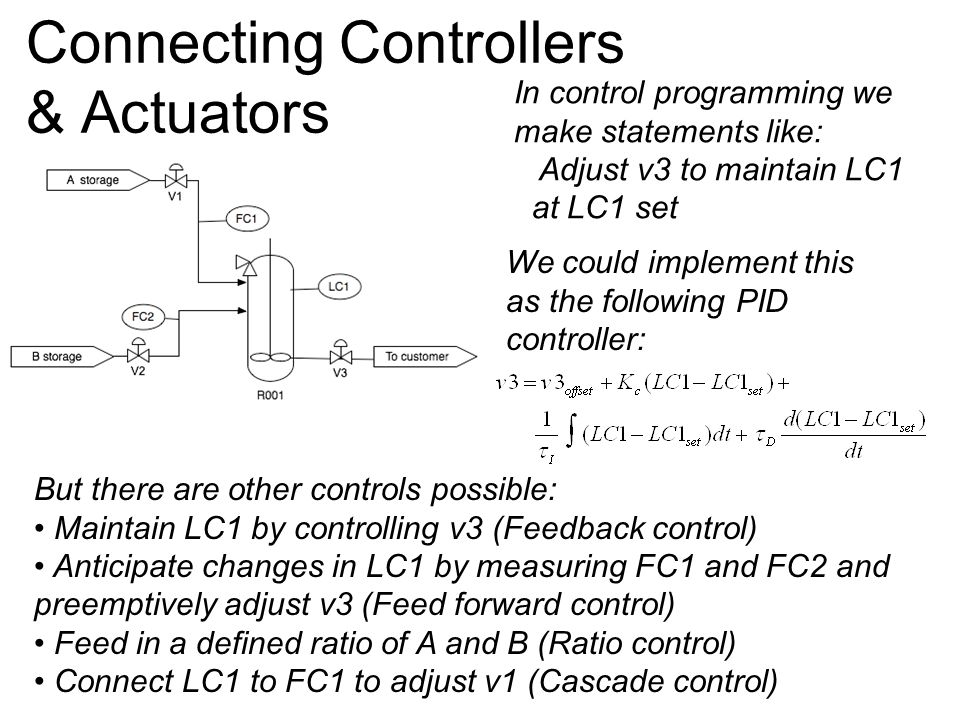 Connecting Controllers & Actuators