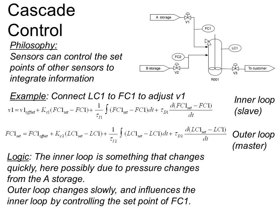 Cascade Control Philosophy: