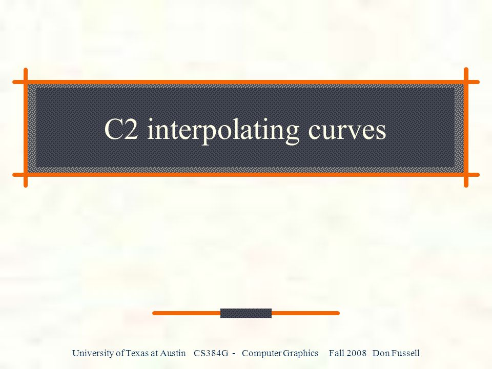 C2 interpolating curves