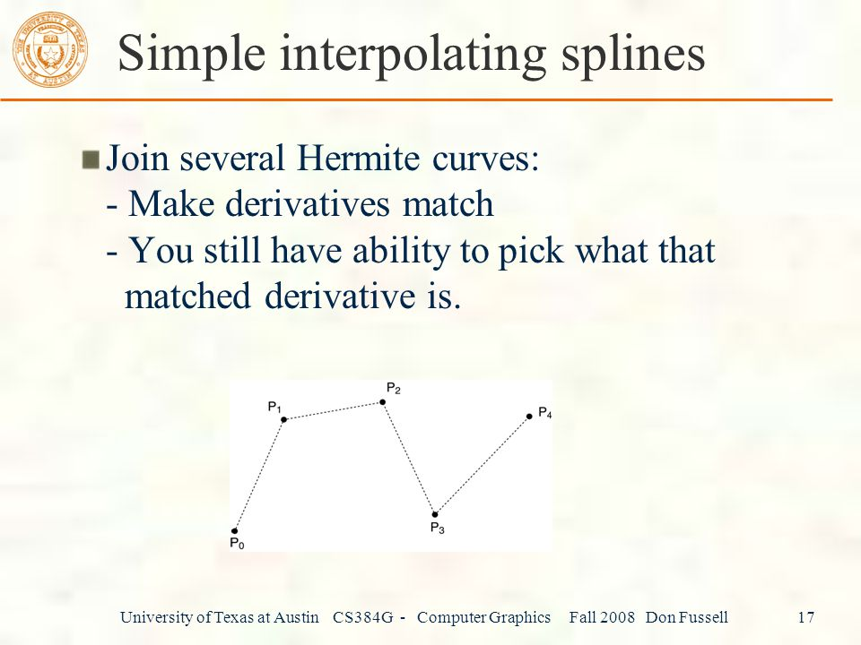 Simple interpolating splines