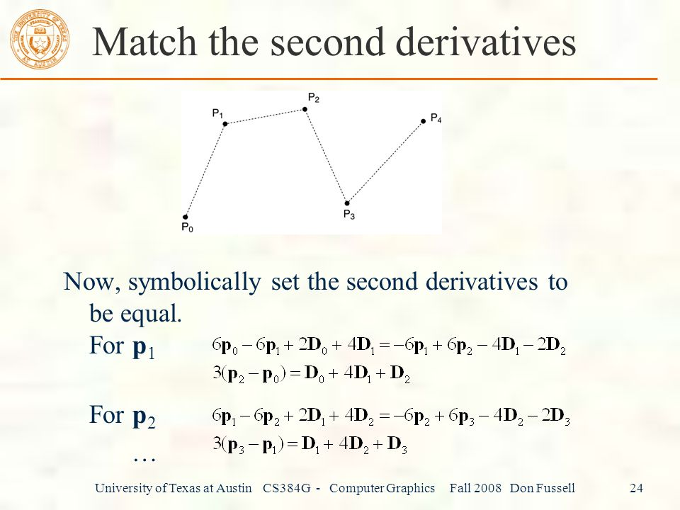 Match the second derivatives