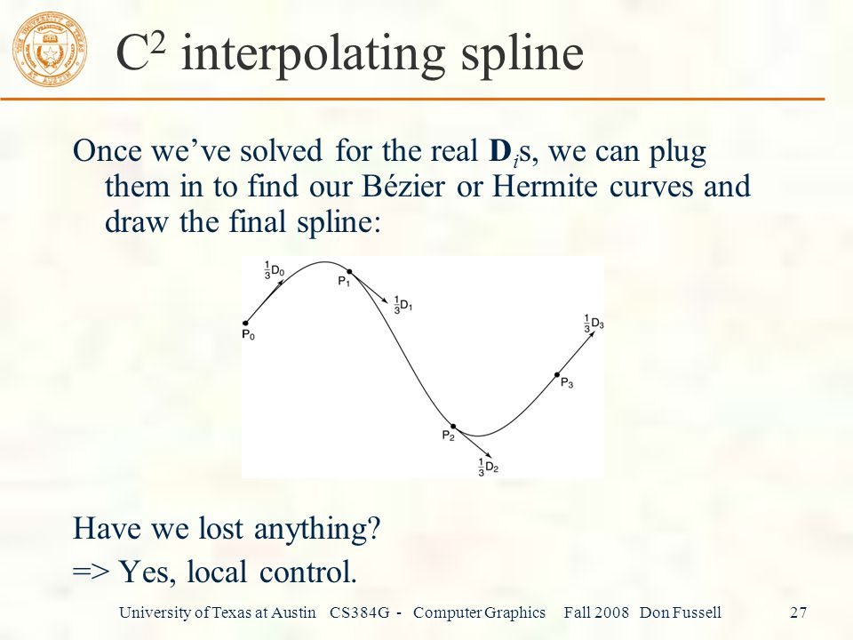 C2 interpolating spline