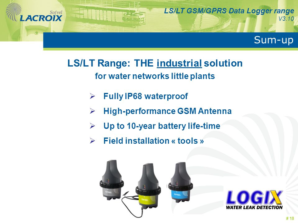 LS/LT Range: THE industrial solution for water networks little plants