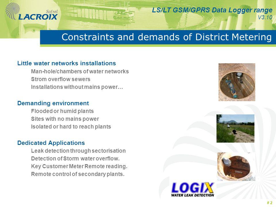 Constraints and demands of District Metering