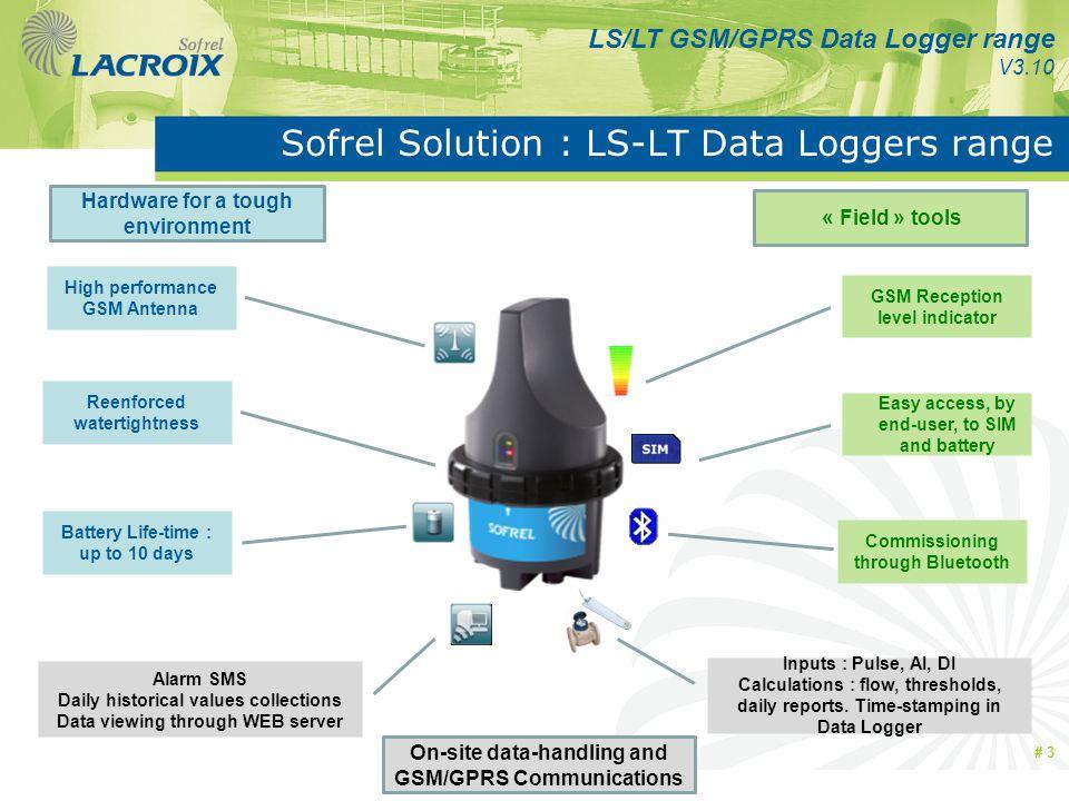 Sofrel Solution : LS-LT Data Loggers range