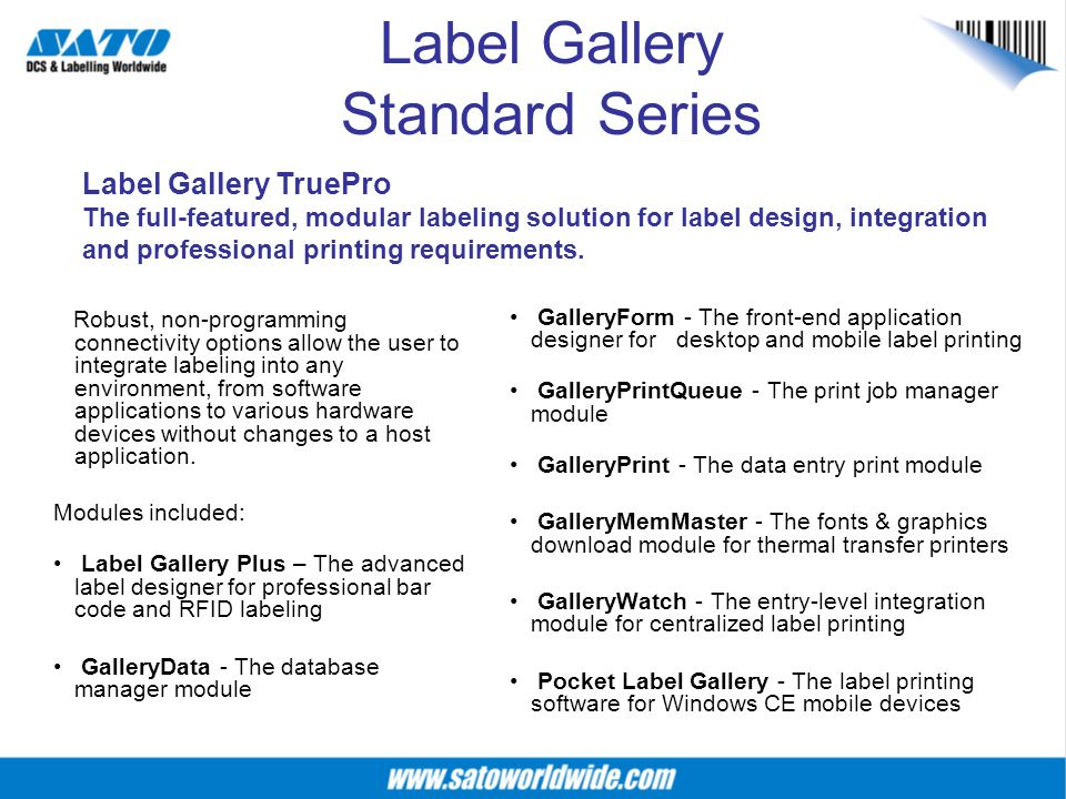 Label Gallery Standard Series