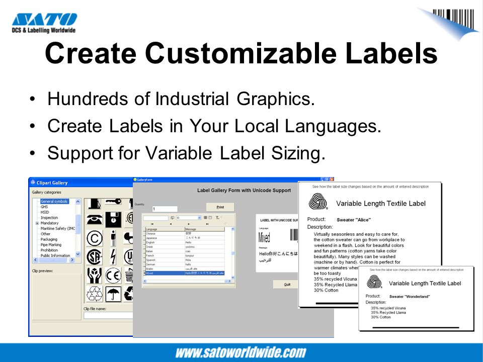 Create Customizable Labels