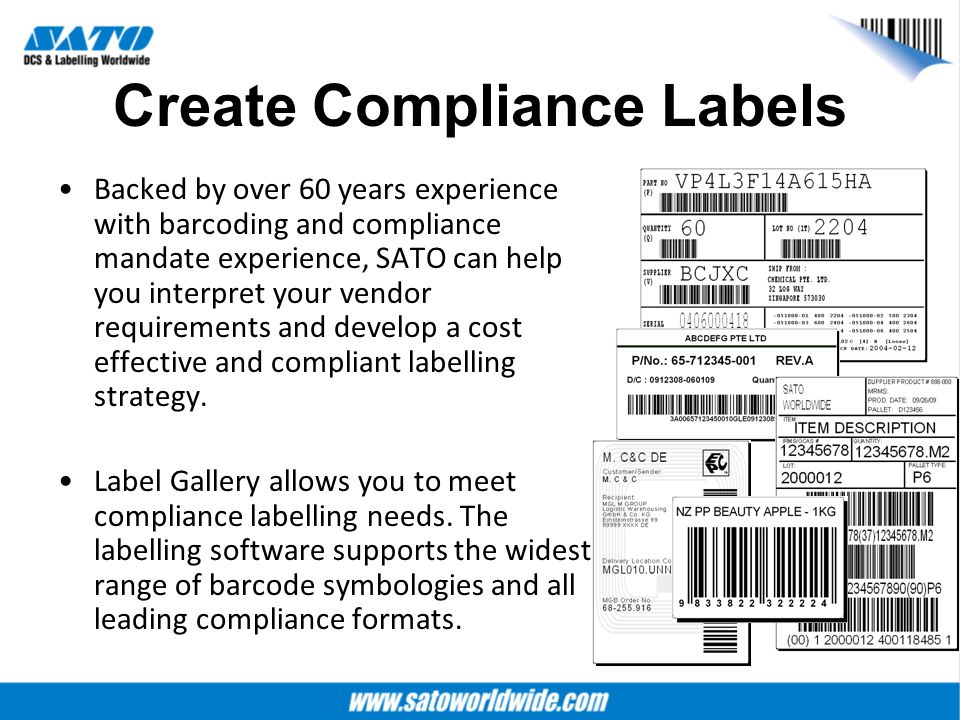 Create Compliance Labels