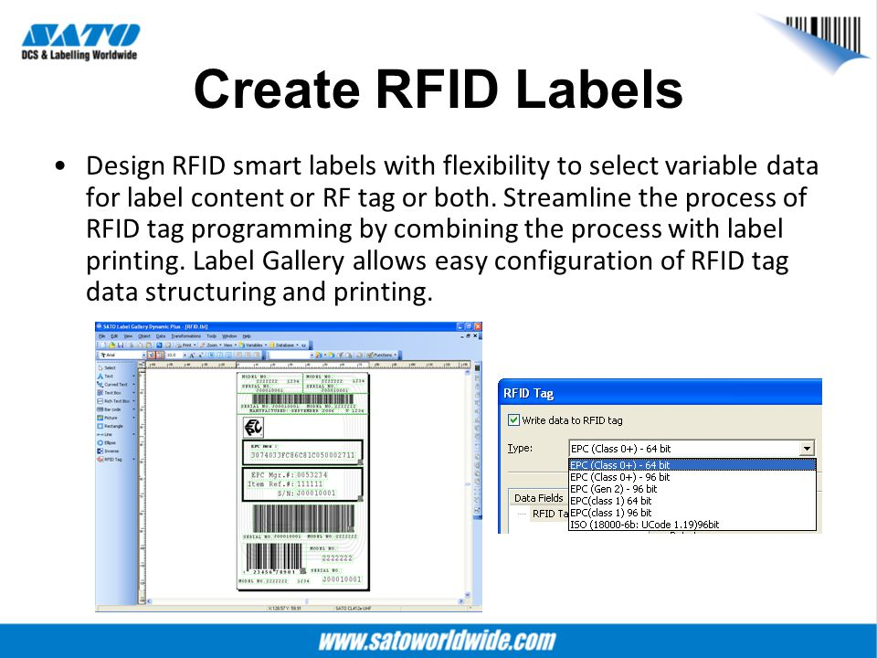 Create RFID Labels