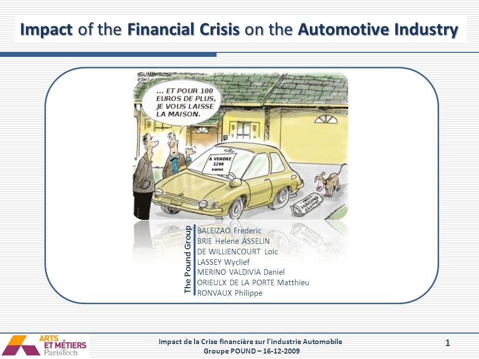 Impact de la Crise financière sur l industrie Automobile