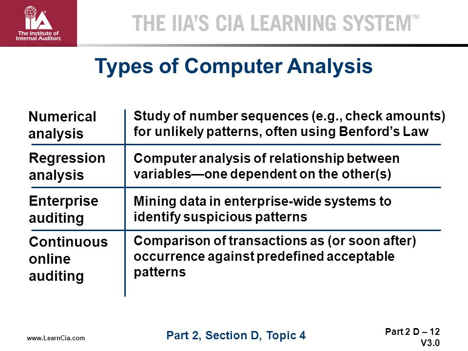 Types of Computer Analysis