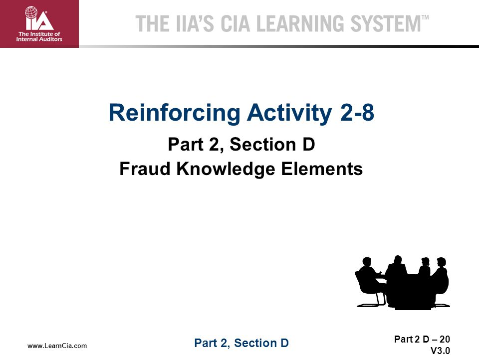 Reinforcing Activity 2-8 Fraud Knowledge Elements