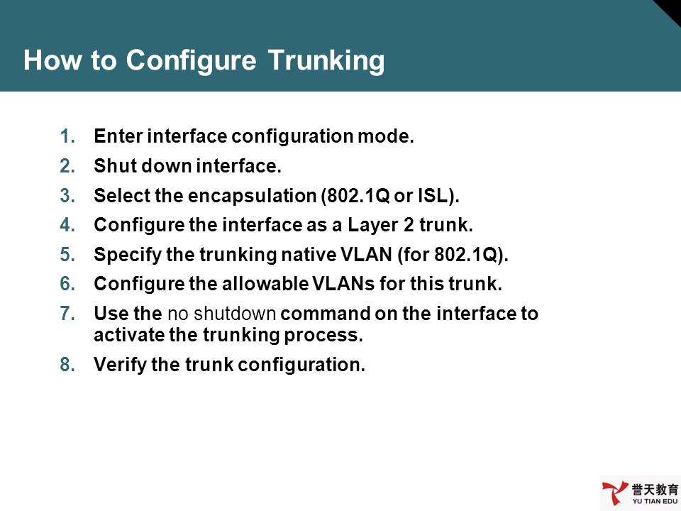 How to Configure Trunking