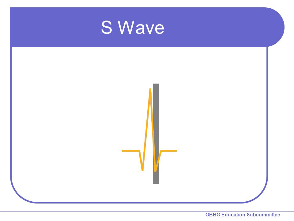 S Wave S wave: A negative deflection following the R wave.