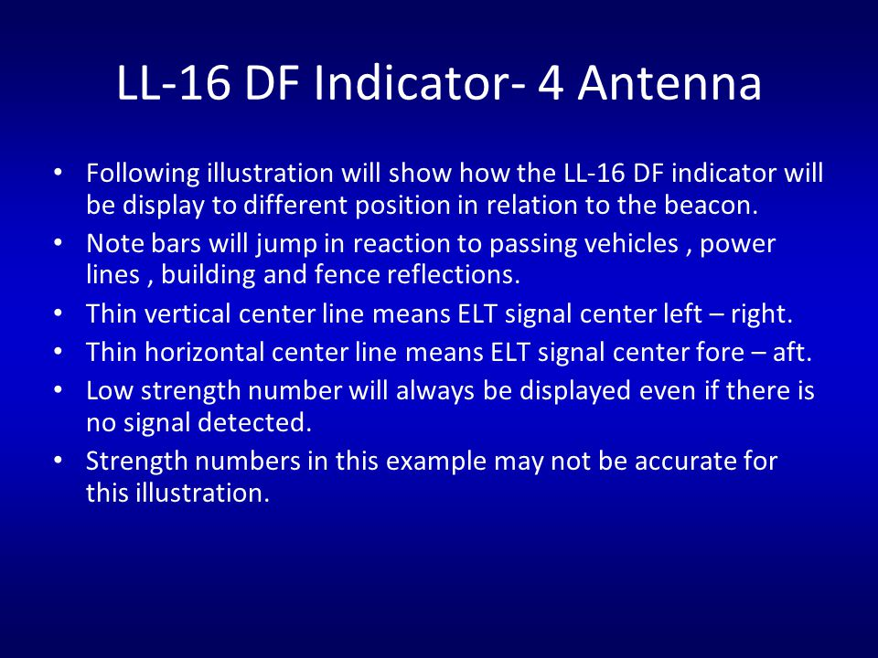 LL-16 DF Indicator- 4 Antenna