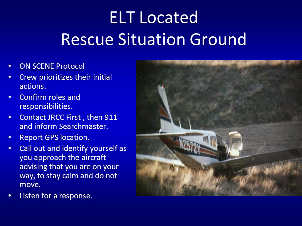 ELT Located Rescue Situation Ground