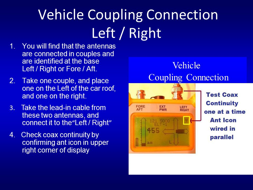 Vehicle Coupling Connection Left / Right