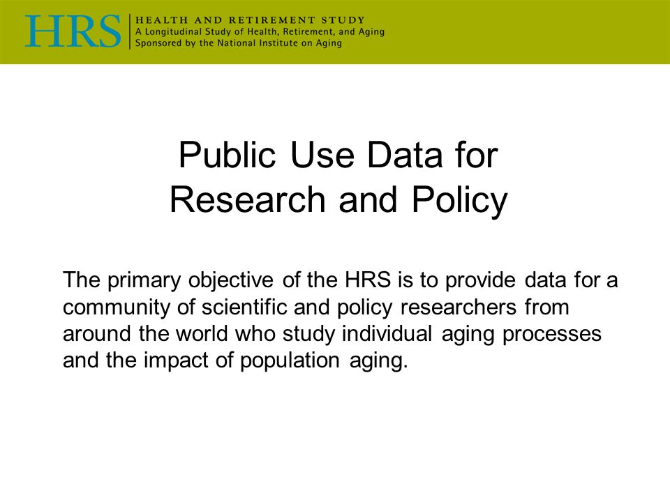 Public Use Data for Research and Policy