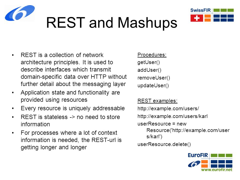 REST and Mashups