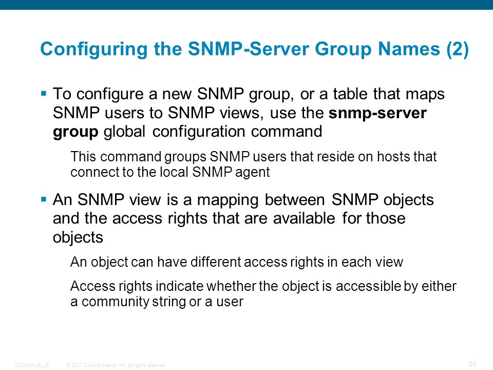 Configuring the SNMP-Server Group Names (2)