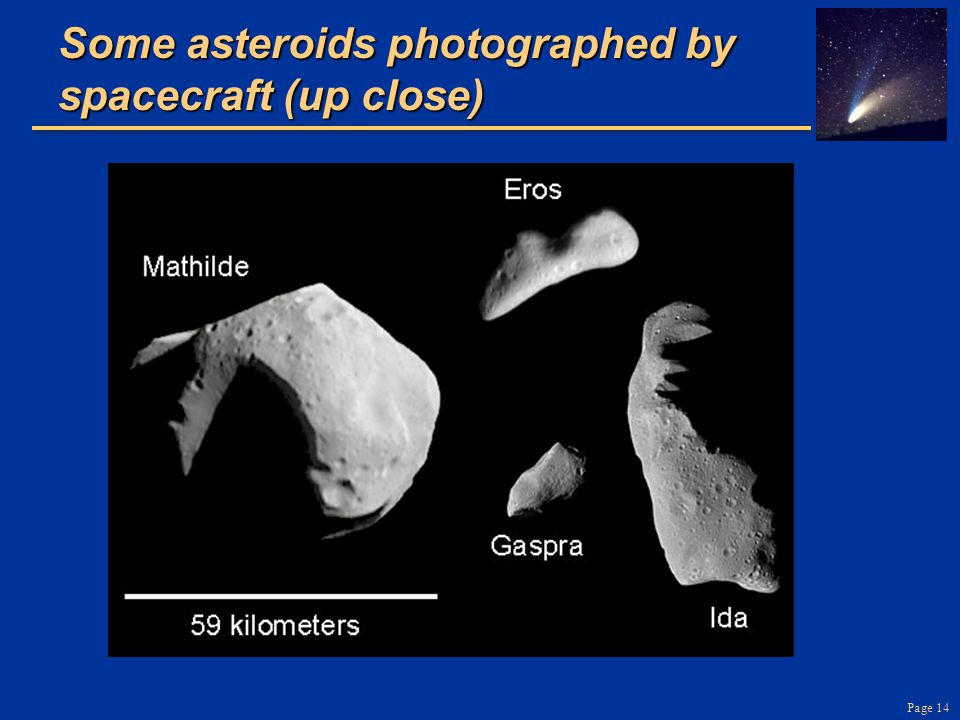 Some asteroids photographed by spacecraft (up close)