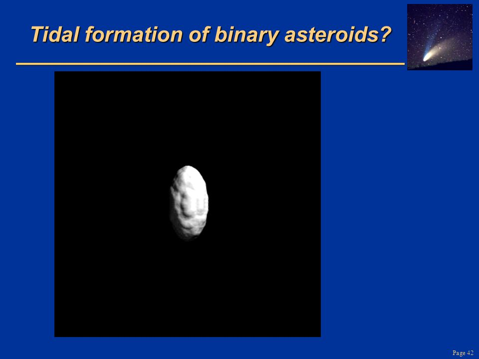 Tidal formation of binary asteroids