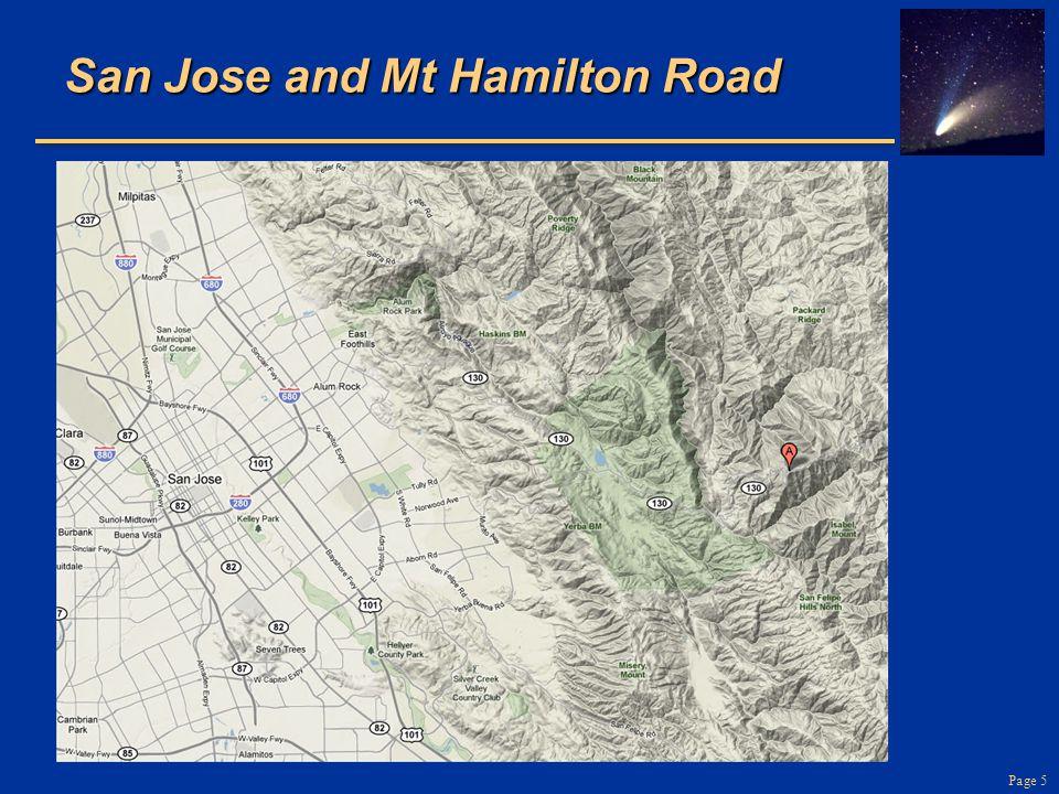 San Jose and Mt Hamilton Road