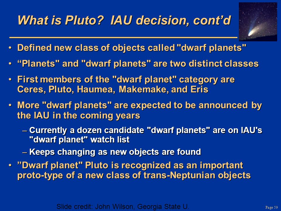 What is Pluto IAU decision, cont'd
