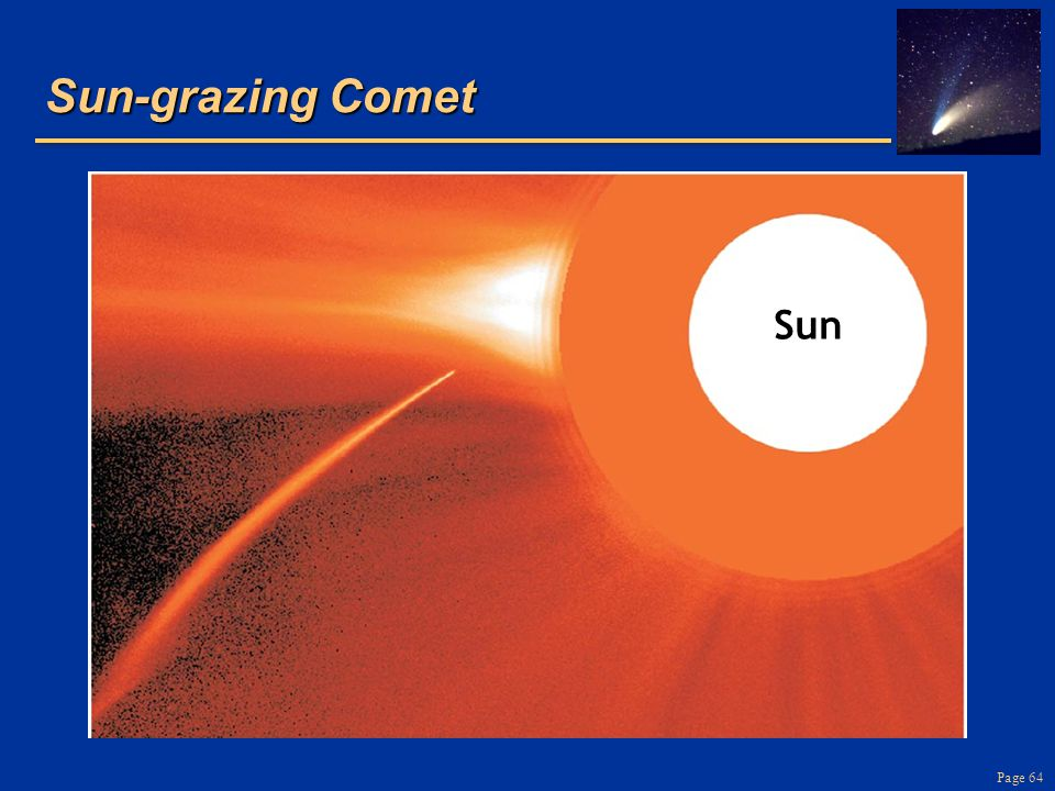 Sun-grazing Comet Sun. Simple rocks and metal, occasionally carbon compounds and water. Shiny bits are metal flakes, first to condense.