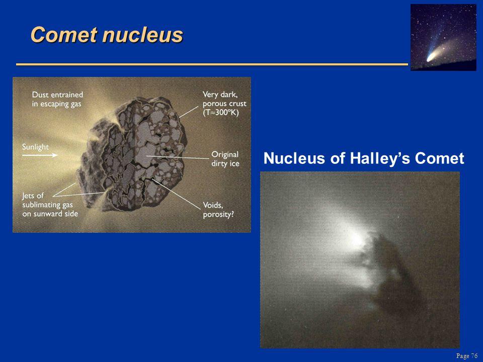 Comet nucleus Nucleus of Halley's Comet