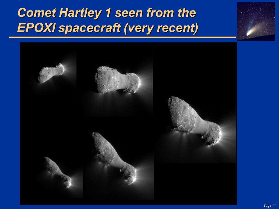 Comet Hartley 1 seen from the EPOXI spacecraft (very recent)