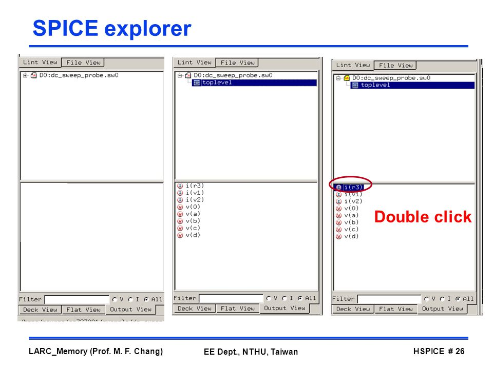 SPICE explorer Double click