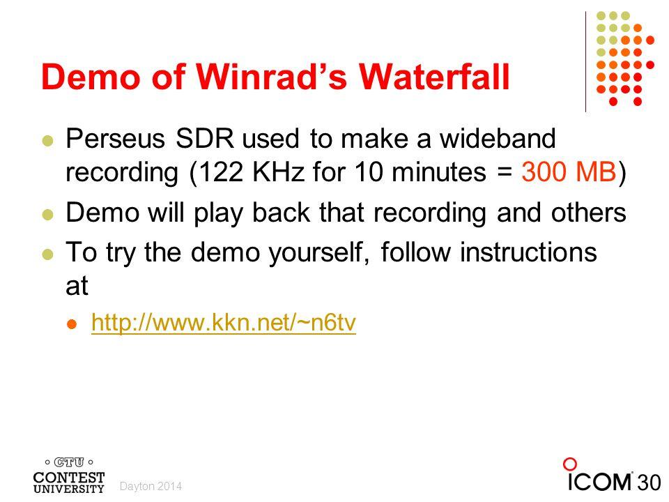 Demo of Winrad's Waterfall