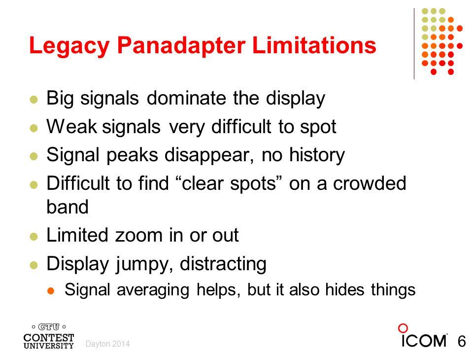 Legacy Panadapter Limitations