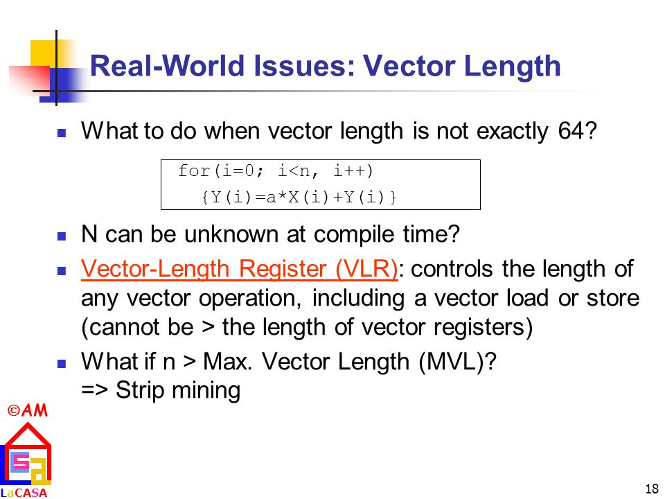 Real-World Issues: Vector Length