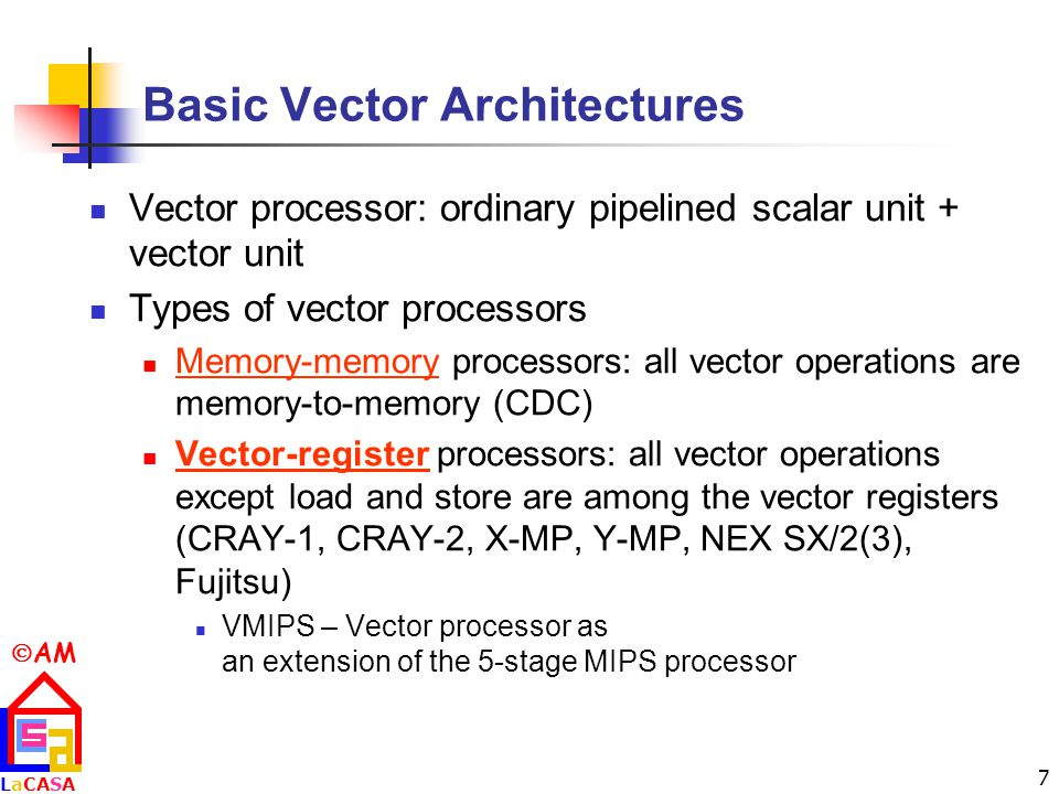 Basic Vector Architectures