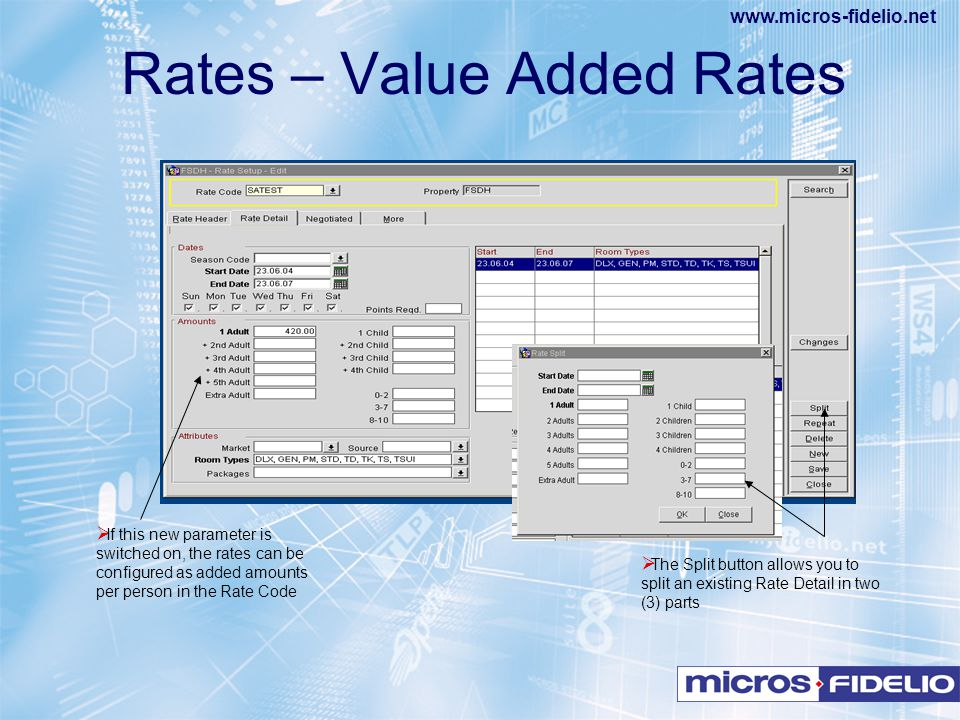 Rates – Value Added Rates