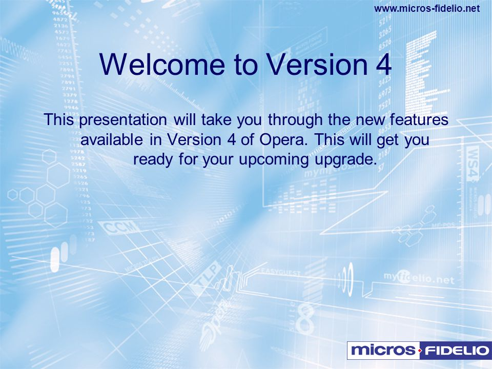 Welcome to Version 4