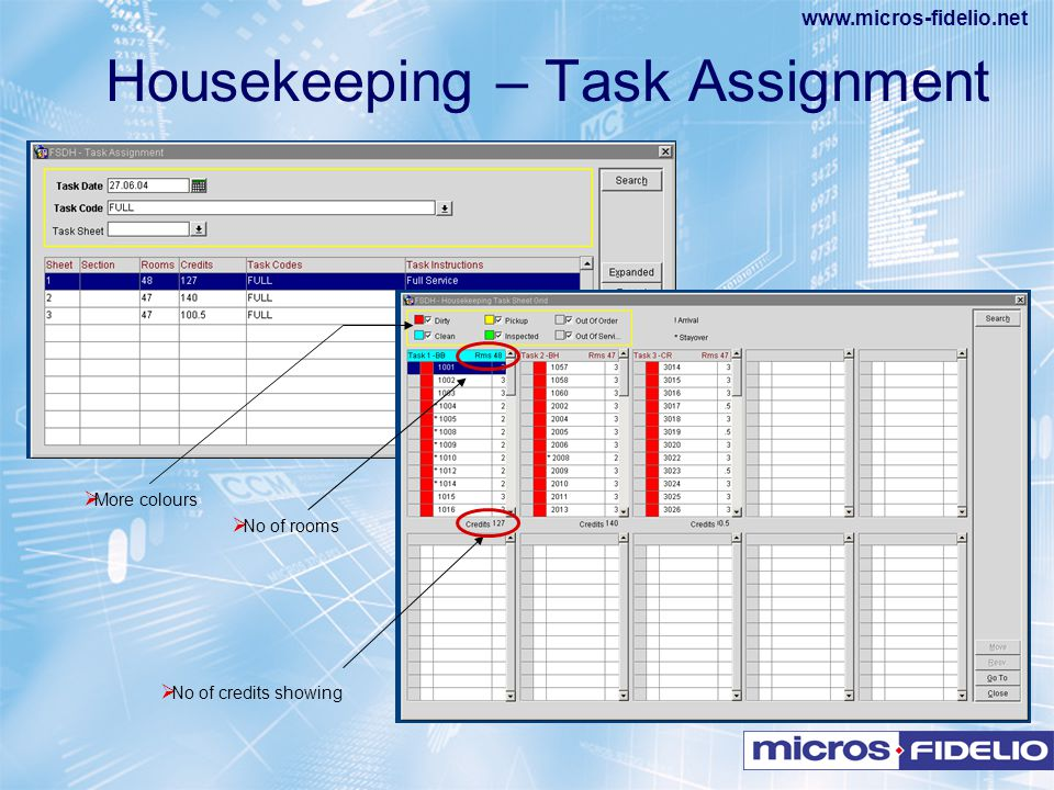 Housekeeping – Task Assignment