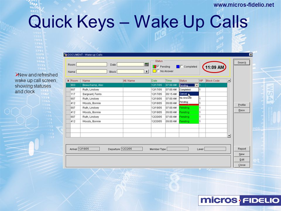 Quick Keys – Wake Up Calls