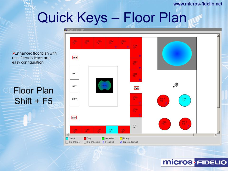 Quick Keys – Floor Plan Floor Plan Shift + F5